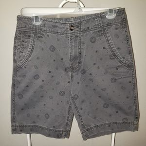 Mossimo Gray Men's Flat Front Shorts Size 30